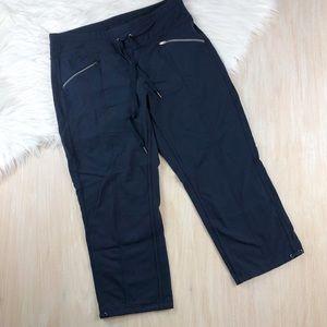 Athleta Navy Slouch Metro Capri Jogger Pants
